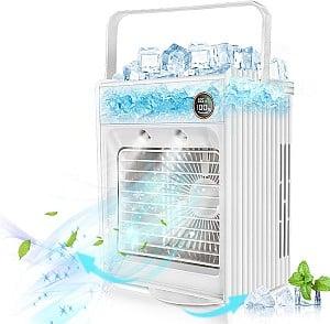 Jeteven 5in1 Mobile Klimaanlage (120° Weitwinkel, Befeuchtungsfunktion, LED Licht) für 26,39€