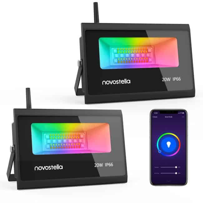 Novostella NTF36 20W RGB LED Strahler mit Alexa Support im Doppelpack ab 76,05€