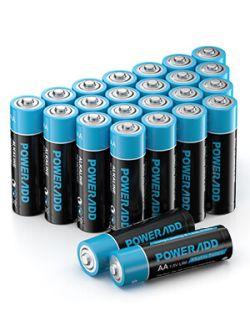 24er Pack Poweradd AA Alkaline Batterien für 4,99€