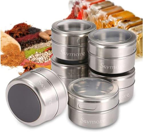 Skymore 12 Stück Magnetische Gewürzgläser für nur 11,98€