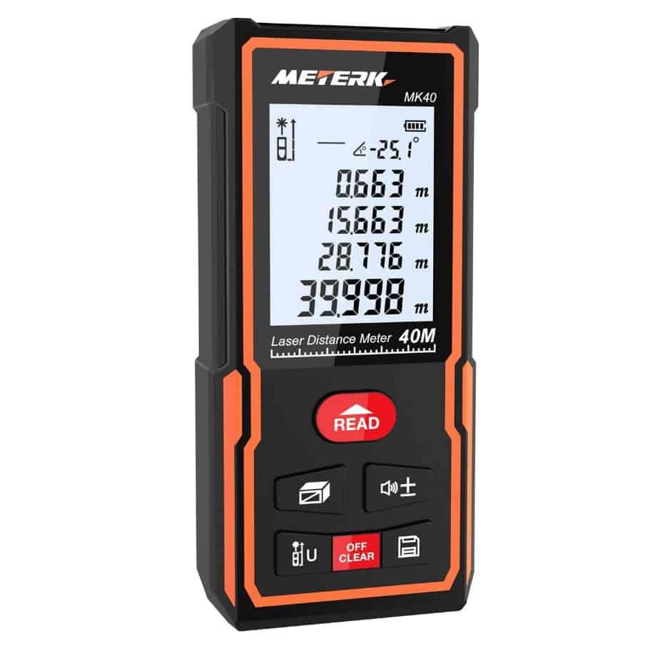 Meterk Digital Hochpräzisions-Laser-Entfernungsmesser für 16,99€