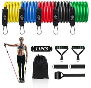11er Pack Resistance Bands Fitnessband-Set für 9,99€