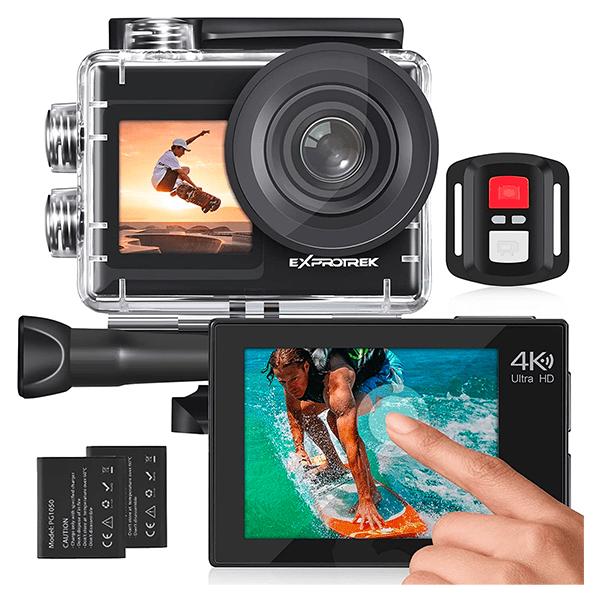 Exprotrek 4K Action Cam mit 20 MP und 170° Ultra-Weitwinkel für nur 69,99€ inkl. Versand